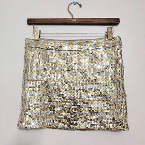 Sequin Mini Gold & Silver Skirt